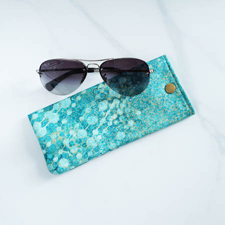 Metallic Eyeglass Snap Pouches